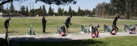 The Spring 2013 Fresno City College Golf Team warms-up before April 17, 2013 golf tournament. (Photo/Karen West)