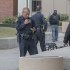 State Center Community College District Police in the Fresno City College Free Speech Area after two fights broke out on Nov. 9.