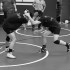 Sophomores Adrian Camposano and Albert Rosas in a clinch at  practice in the FCC Wrestling Room, Thursday Nov. 12, 2015.
