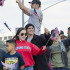 Supporters of U.S. veterans wave their flags at the Veterans Day Parade, starting from Fresno City Hall and ending at Chukchansi Park, Wednesday, Nov. 11, 2015.