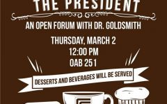 President Goldsmith to hold open forum on March 2