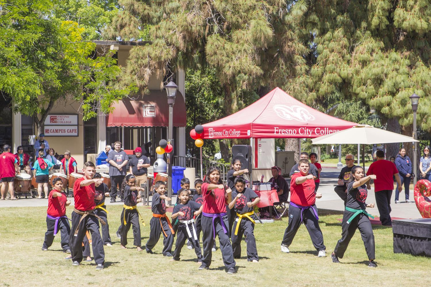 Students+from+the+Red+Dragon+Dojo+demonstrate+their+moves+at+Asian+Fest+on+April+20%2C+2017.