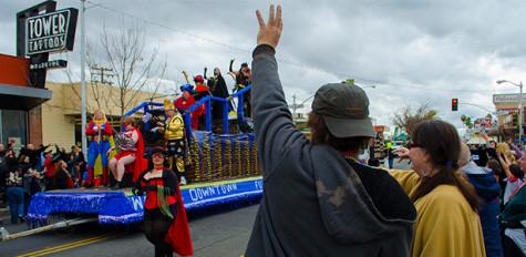 Mardi Gras in Fresno Tower District
