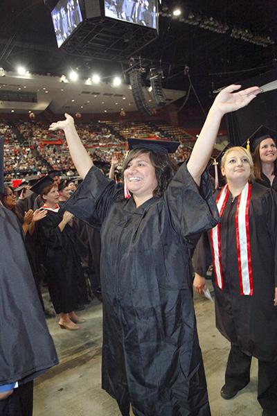 Fresno City College's Graduation Ceremony at the Selland Arena on May 20, 2015.