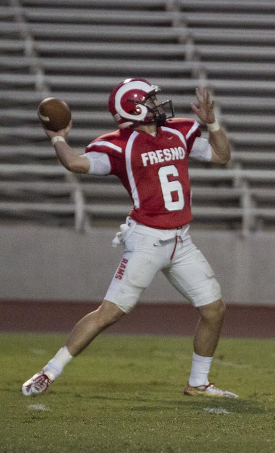 Quarterback Christian Rossi  threw the Rams to a victory versus Laney College.