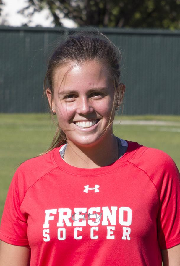 Fresno City College sophomore Midfielder Camilla Figueira, who came from Brazil to FCC uses soccer in many aspects to help her on and off the field.