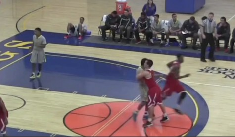 Fresno City College Men's Basketball player, Nick Hilton is shown pushing a rival team's player in a video that surfaced on YouTube alleging