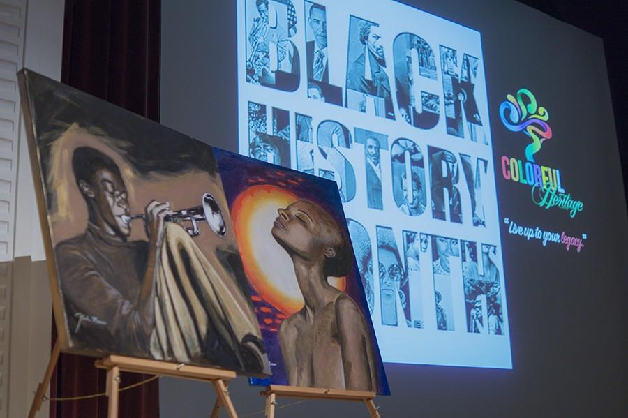 A+display+for+Black+History+Month+is+featured+at+the+Old+Administration+Building+Auditorium+on+Monday%2C+Feb.+1%2C+2015.+