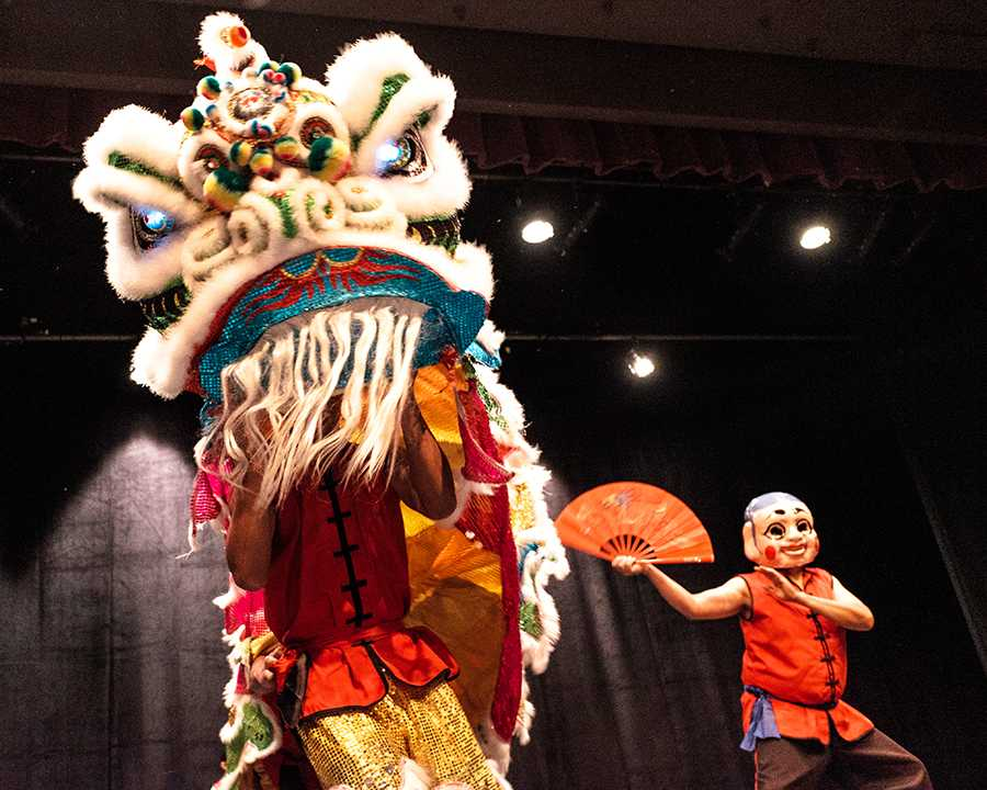 Traditional Chinese dance during the opening night celebrations which kicked off Asian-American month at Fresno City College on April 1, 2016.