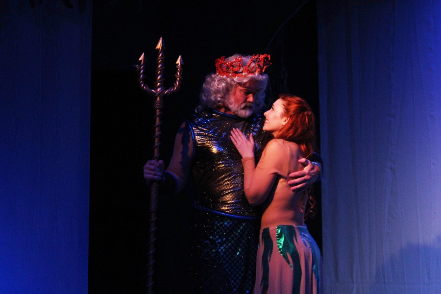 King Triton and his daughter Ariel  (Photo Courtesy of Good Company Players)