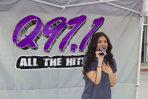 "Kimberly Marquez during a ""remote"" for Q97.1 FM at a Metro PCS store in Fresno, Calif. on April 7, 2016"