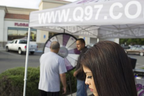 "Kimberly Marquez during a ""remote"" for Q97.1 FM at Save Mart in Clovis, Calif. on May 4, 2016"