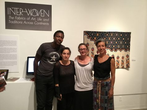 Martin Townsend, Anita Flores, Crystal Zawadski and Fresno City College Art Space Gallery Curator Teresa Diaz.