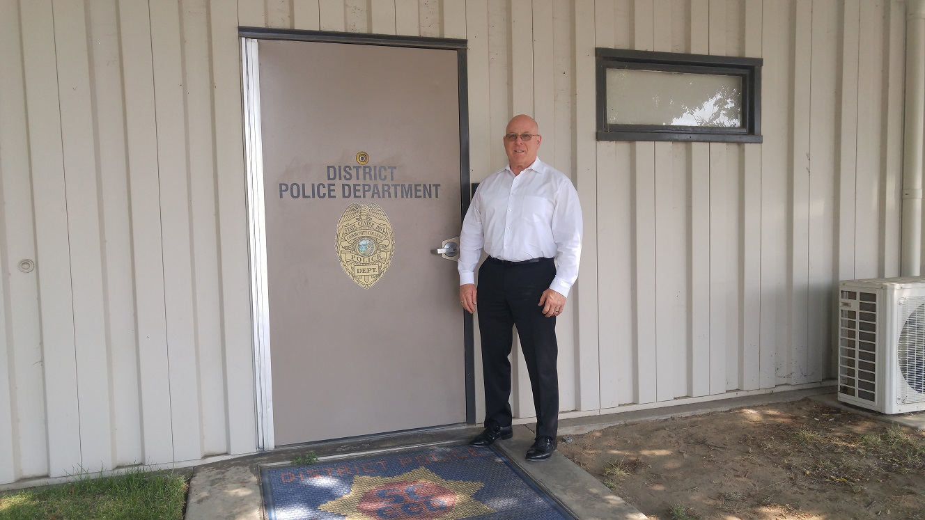 New interim chief Dave Paris stands outside his office on Monday, Aug. 22, 2016.