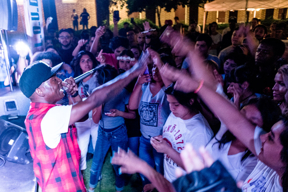 Fashawn performing during the L.O.U.D. event at Fresno City College on Friday, September 19, 2016.