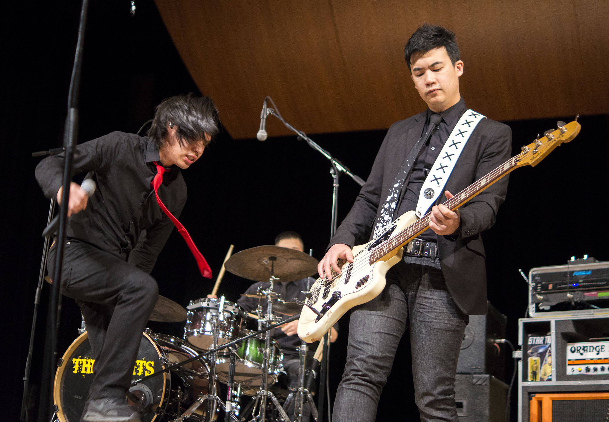 The Slants perform in the Old Administration Building Auditorium at Fresno City College on April 4, 2017.