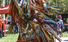Native American Demonstrators March Through Campus