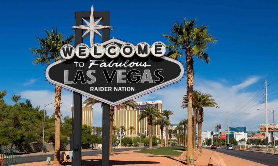 Las+Vegas+sign+prepped+to+well+the+Raiders.+Illustration+%2FLucas+Newcomb