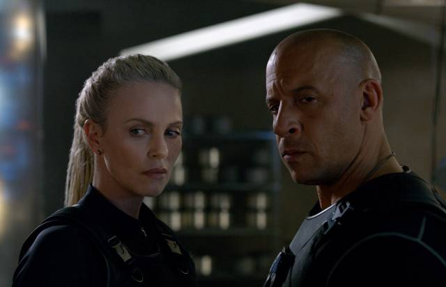 Charlize+Theron+and+Vin+Diesel+in+%22The+Fate+of+the+Furious.%22+Fast+8+premieres+worldwide+April+14%2C+2017.+Photo+courtesy+of+Allstar%2FUniversal+Pictures