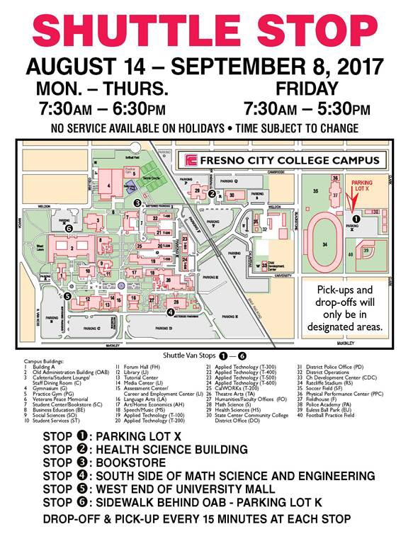 Need a Ride Around Campus? FCC Shuttle Services Can Help