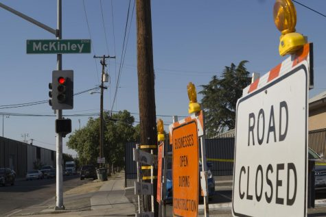 Mckinley Avenue and Clark Street remain closed off due to construction on Aug. 29, 2017.