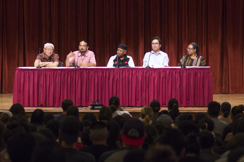 John Cho, Matt Watson-Espinoza, Kehinde Solwazi, Lee Herrick and Karla Kirk spoke as panelists for the