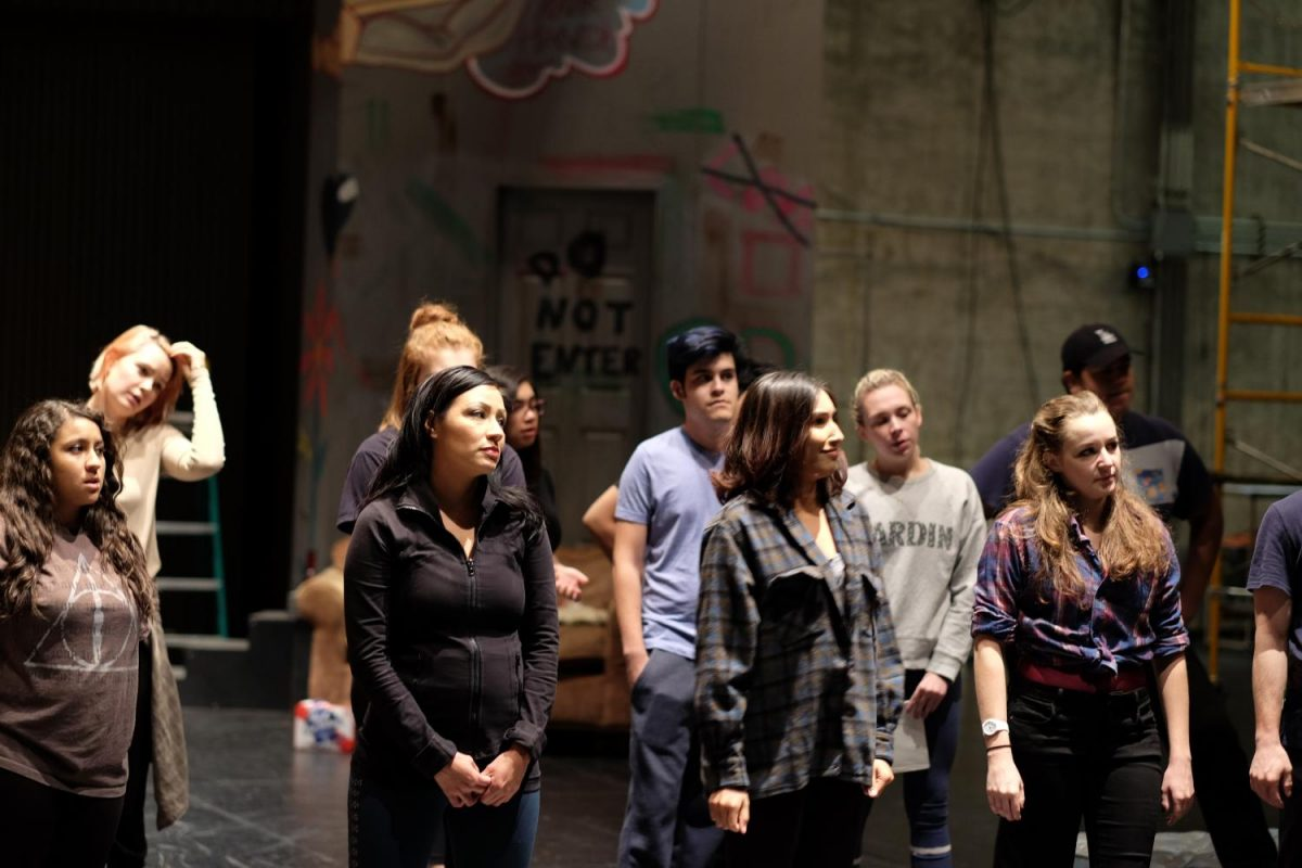 Cast of 'American Idiot' practicing during rehearsals