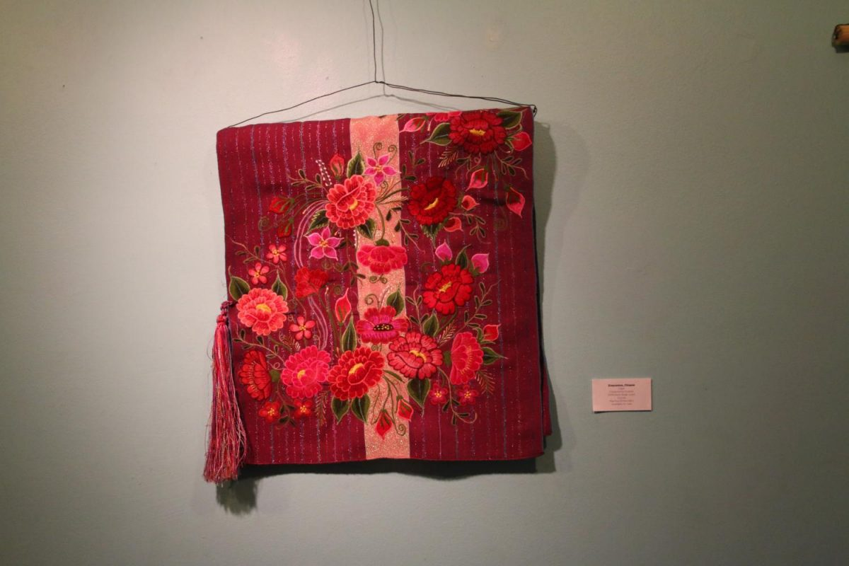 A handmade rebozo from Chiapas, Mexico on display at Fres.co during the first day of the Rebozo Revival Festival on Monday, September 25, 2017