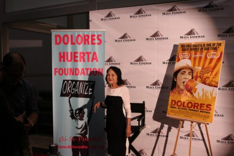 Dolores Huerta Shakes Hands, Says Hello and Drops Some Knowledge at Maya Cinemas