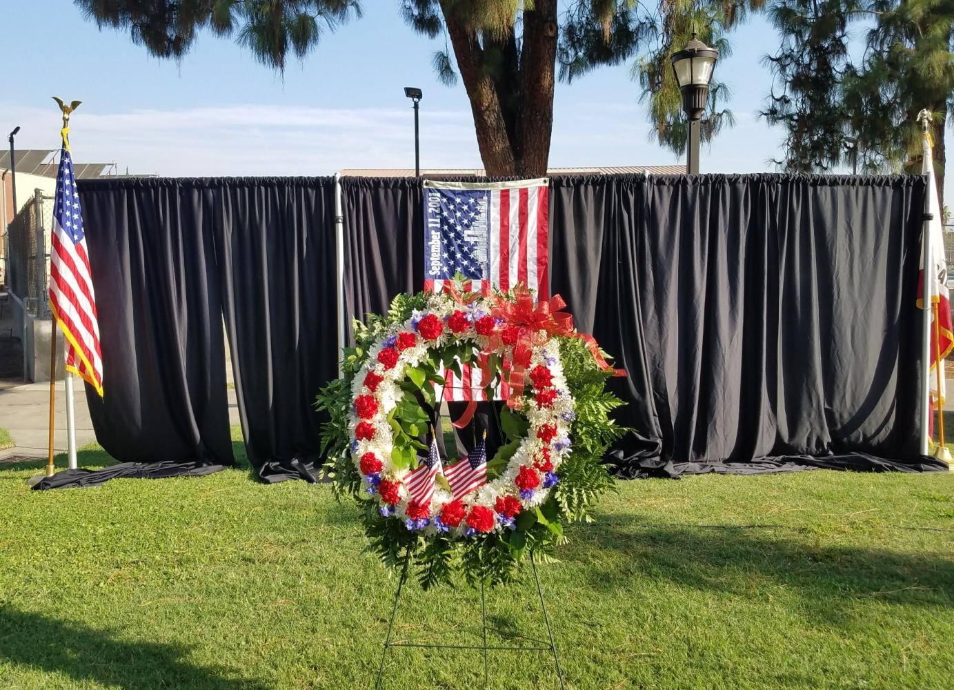 FCC honors the victims of 9/11 with a plaque dedication and march through campus on Sept. 9, 2017.