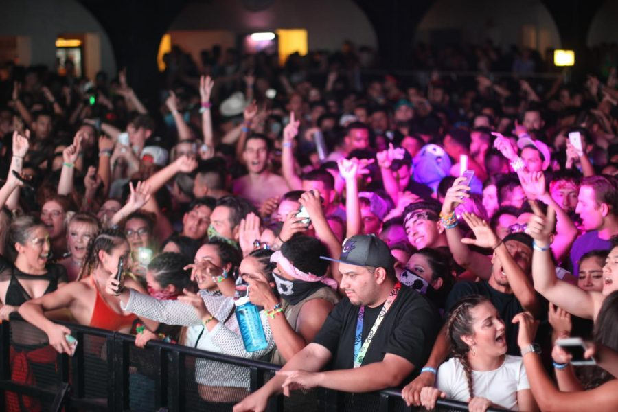 Crowds enjoy the electronic music festival Trapfest celebrated at Fresno's Rainbow Ball Room on Saturday, Oct. 14, 2017.