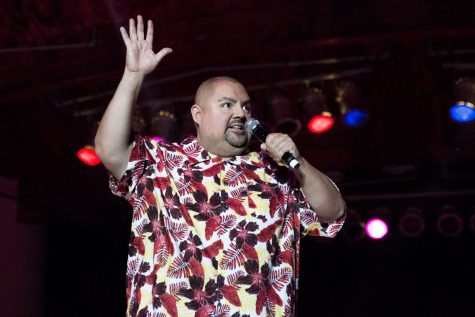 Gabriel Iglesias tells a joke at the Paul Paul Theater during The Big Fresno Fair on Friday, Oct. 13, 2017.