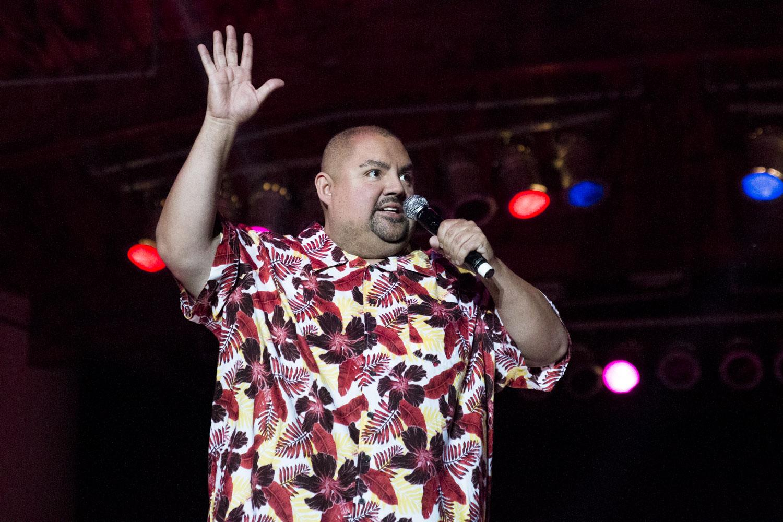 Gabriel Iglesias tells a joke at the Paul Paul Theater during The Big Fresno Fair on Friday, Oct. 13, 2017.