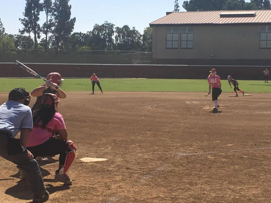 Fresno City College softball players and alumni played a charity fundraiser game to help the victims of breast cancer and to raise funds for the upcoming softball season.
