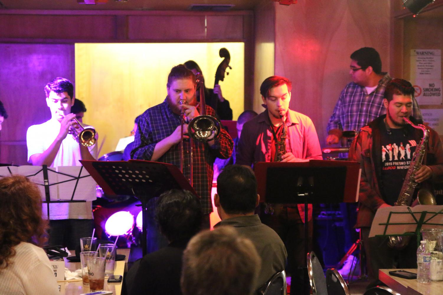 Fresno City College Latin Jazz Ensemble performs at Tokyo Garden Restaurant on Sunday, Nov. 19, 2017.