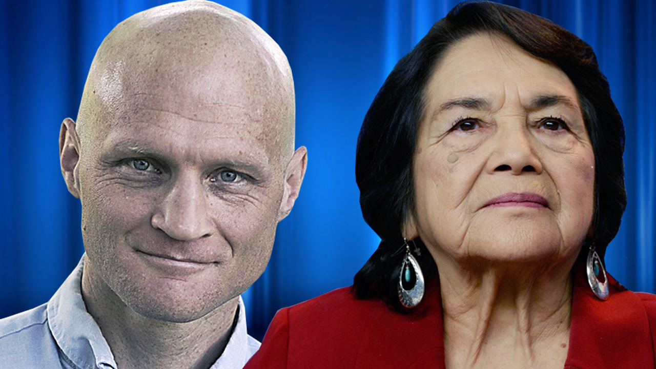 Scott Dikkers, right, and Dolores Huerta will be speaking at Fresno City College as part of the spring 2018 Speaker's Forum.