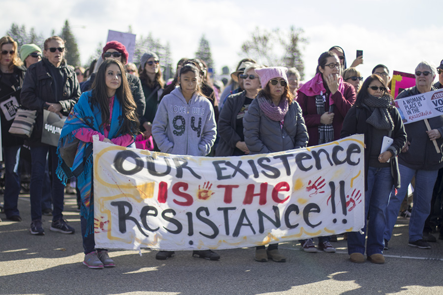 Hundreds turned out for the Women's March in Fresno's River Park area on Saturday Jan. 20, 2018.