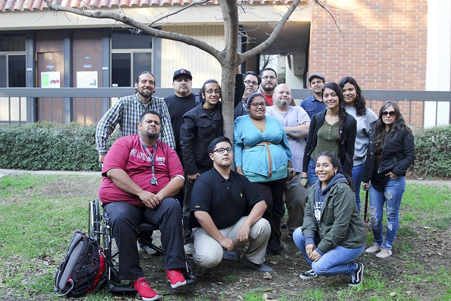 Fresno City College Movimiento Estudiantil Chicanx de Aztlán (M.E.Ch.A) club members.