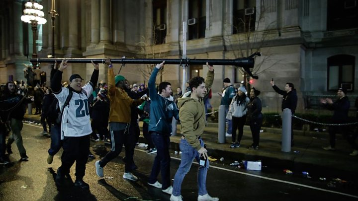 Eagles Fans Flock To Philly To Celebrate Champs At Parade