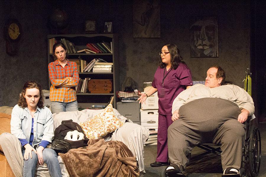 From Left, Bridget Manders Martin, Cat Evangelho, Aleah Muniz and Brad Myers perform a scene in