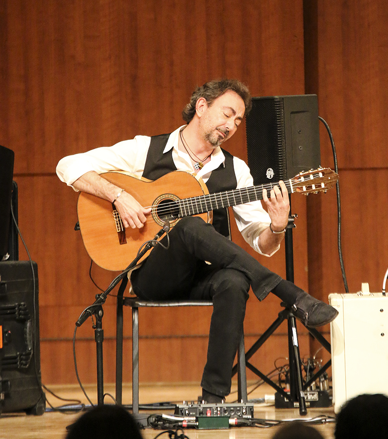 Flamenco guitarist José Antonio Rodríguez performs a solo at the third annual Central Valley Guitar Summit in the Fresno City College Old Administration Building on Friday, April 13.