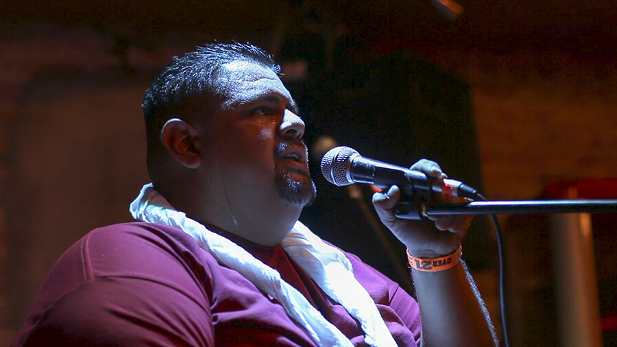 Fresno City College student Alex Gonzalez performs at the Monday night mixers at Strummers on Monday, July 17, 2018.
