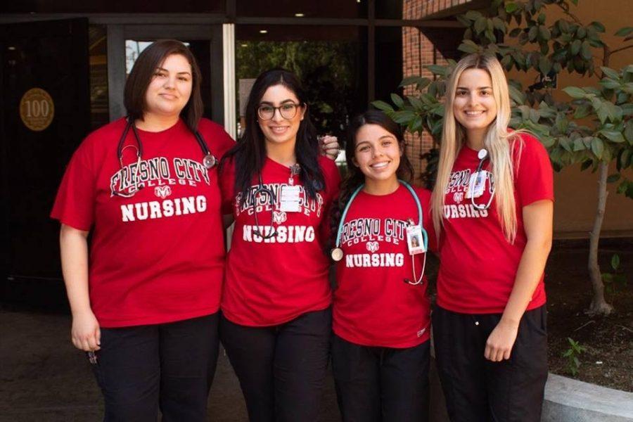 Four FCC nursing students pose for Go Fund Me Photo.
