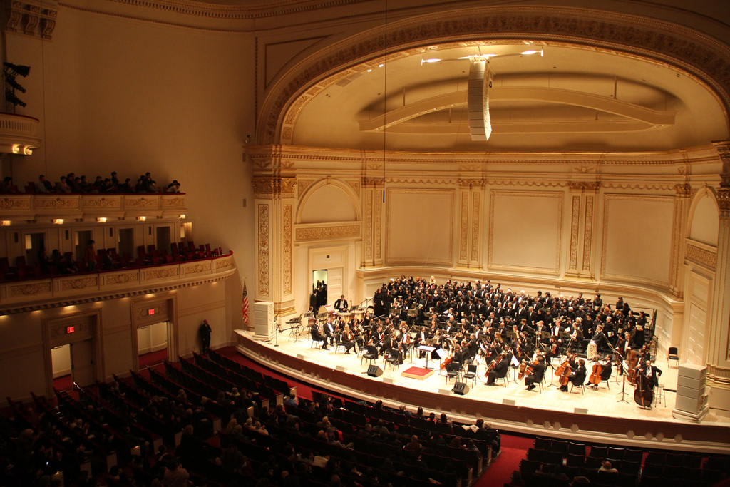 Carnegie hall in NYC, where FCC choir will perform June 2019.