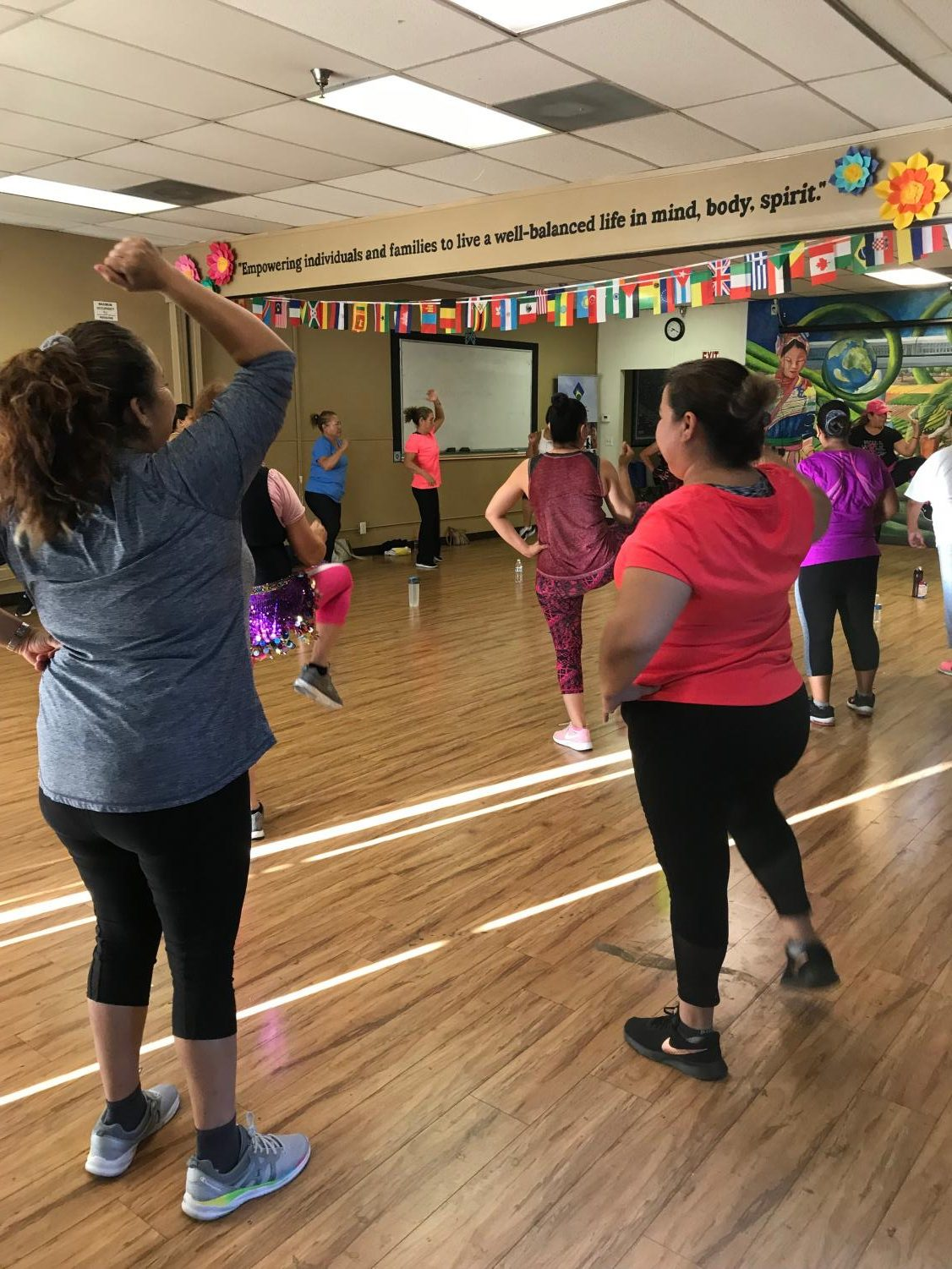 Participants at a workout class at the Holistic Cultural and Educational Wellness Center in Fresno,CA on Tuesday, Sept. 25, 2018.