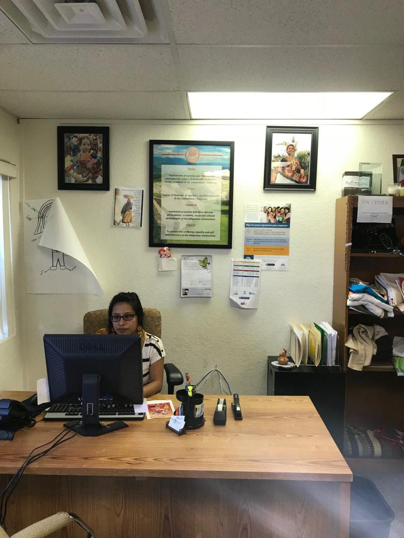 Yenedit Valencia, executive assistant and fund developer working at the Centro Binacional para el Desarollo Indígena Oaxaqueño on Wednesday, September 19, 2018.