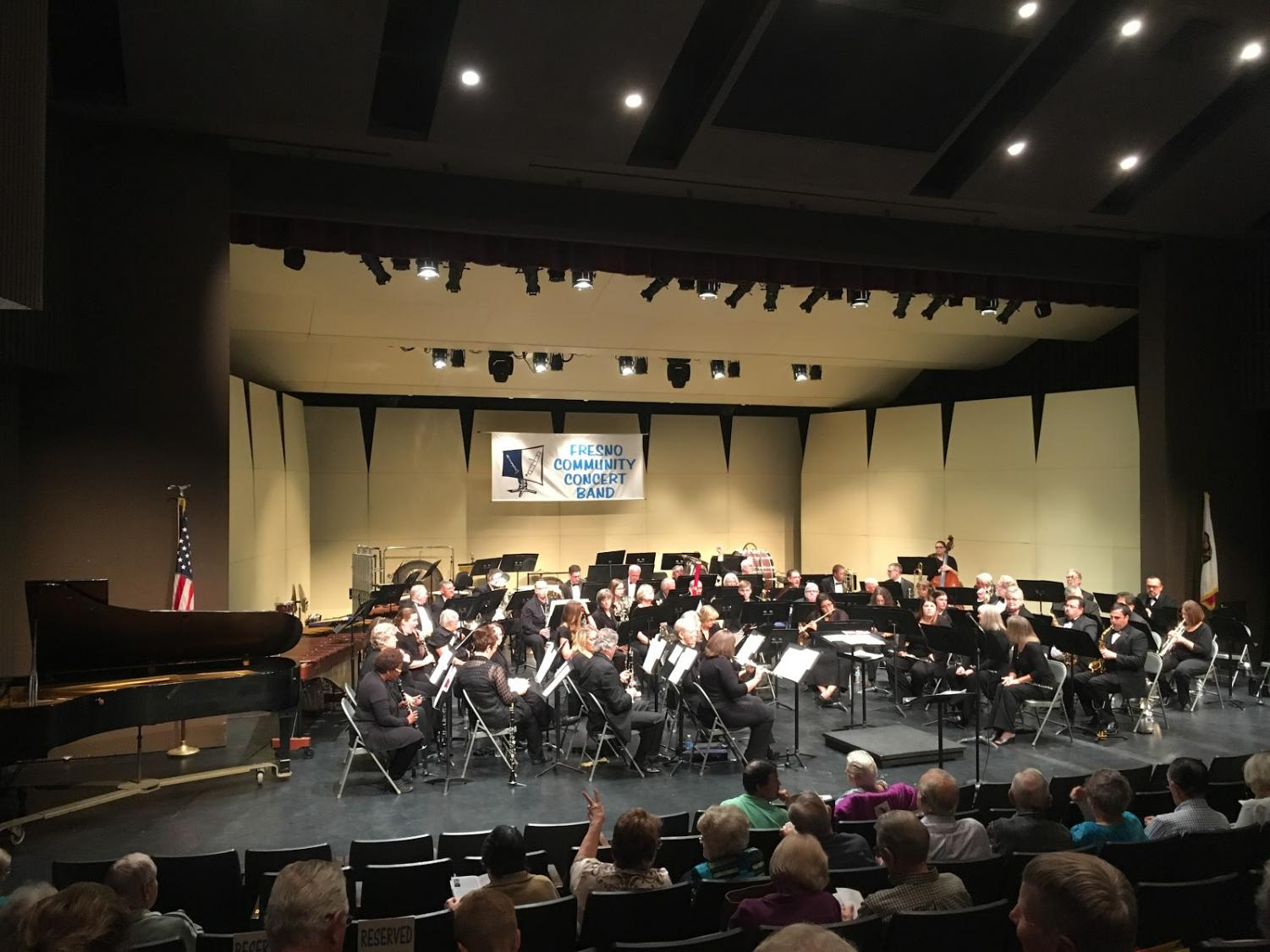 "Fresno Community Concert Band while performing the song ""Flashing Winds""   Sunday, Oct. 21, 2018"