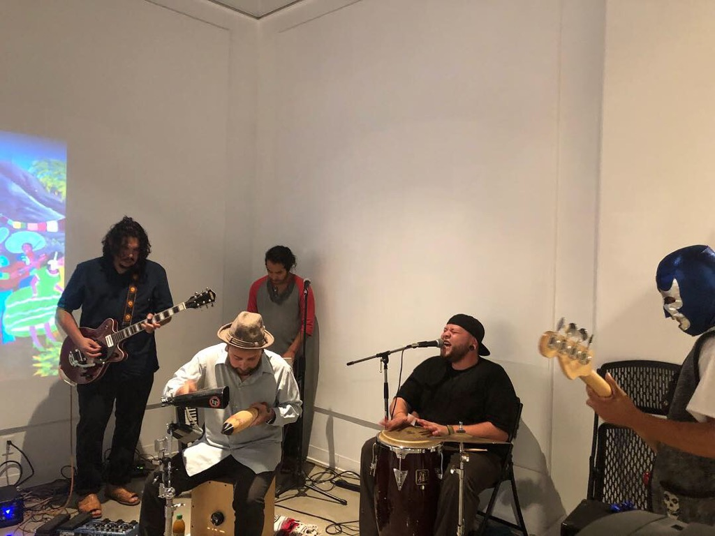 Xolito Sound Sytem performing at the FCC Art Space Gallery on Thursday Oct. 5, 2018.
