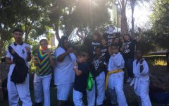 Kids Basic Karate and McCoy Hip-Hop after their performances at the Big Fresno Fair Saturday Oct. 6, 2018.