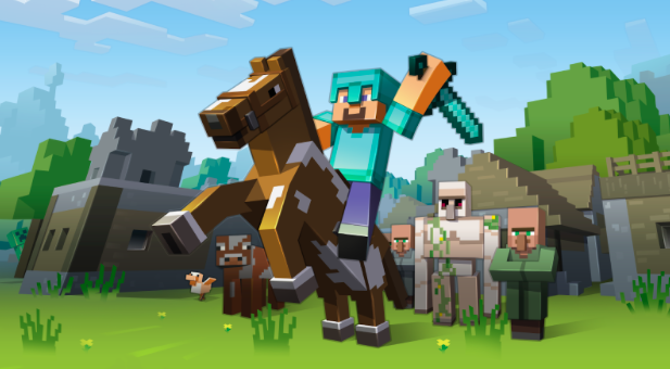 Image of the popular video game Minecraft.
